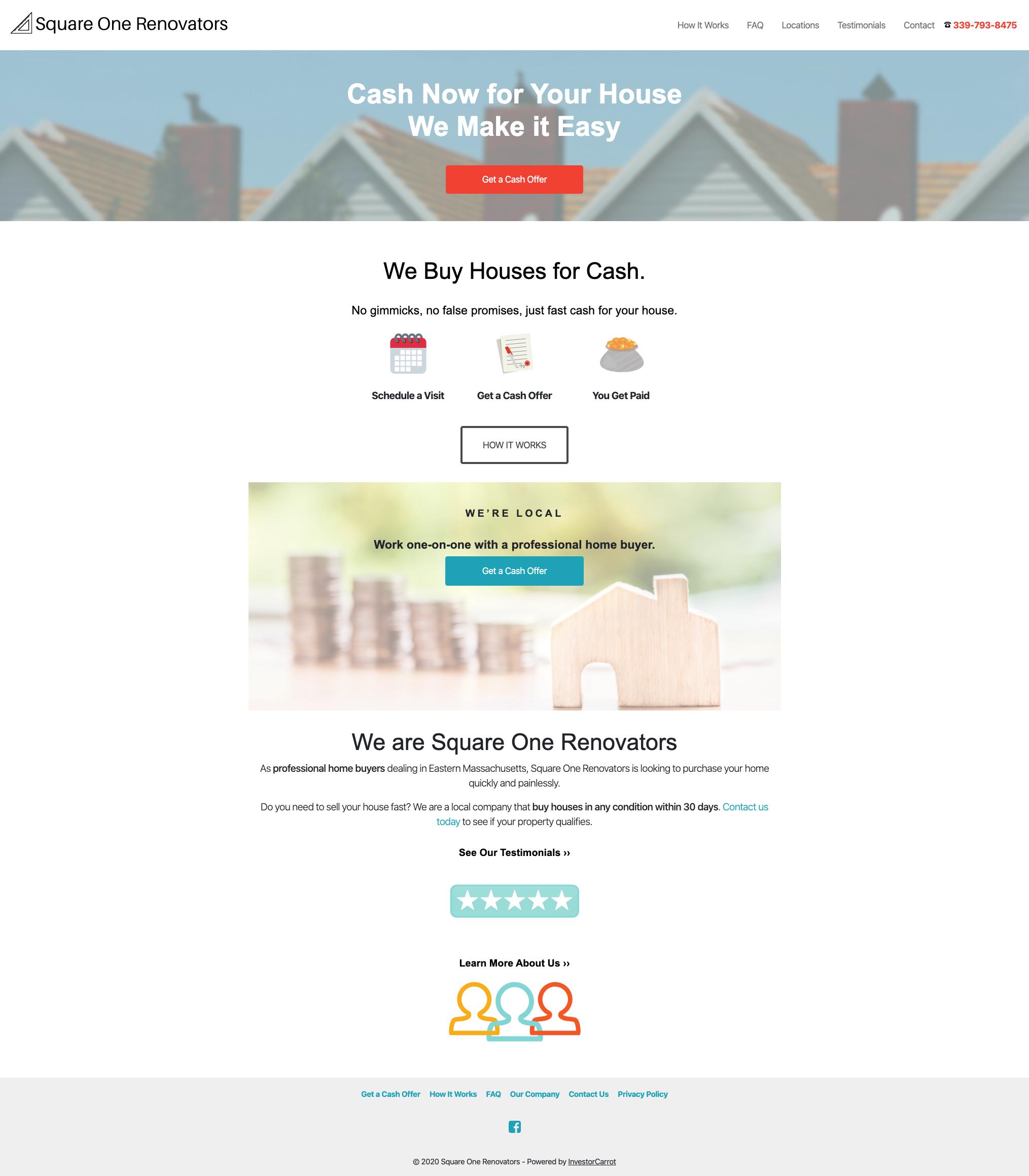 Website build with Carrot (WordPress)